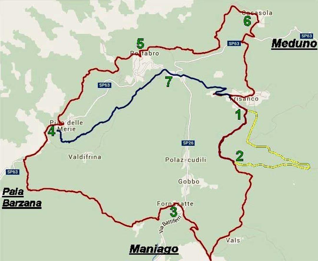 Mappa dei trois