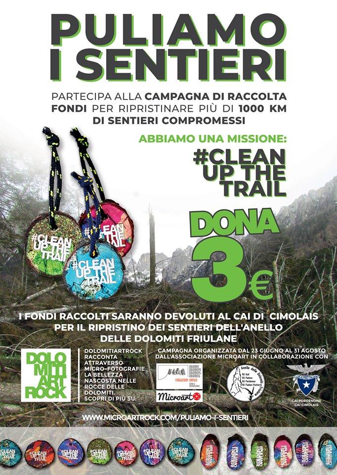 #CLEANUPTHETRAIL #PULIAMOISENTIERI
