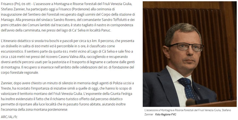 Articolo Regione Autonoma Friuli Venezia Giulia