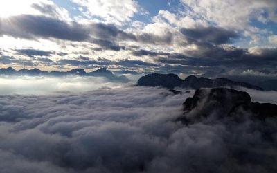 Panorama dal Monte Raut al Mare Adriatico